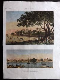 Description de l'Egypte C1820 HC Print. Quartier General de l'Armee Francaise